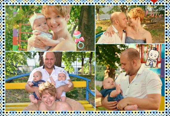 Нашим ангелочкам по 3 месяца-)
